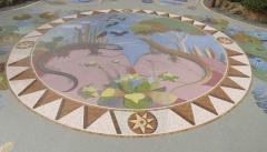 Mosaik des Künstlers Luis Morera