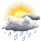 Heute:  Tagsüber - Showers ending early. Low 16C. Nachts - Showers early with some clearing overnight. Low 16C. Winds NNW at 10 to 15 km/h. Chance of rain 60%.